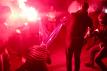 fot. Młodzież Wszechpolska (moment spalenia flagi UE)