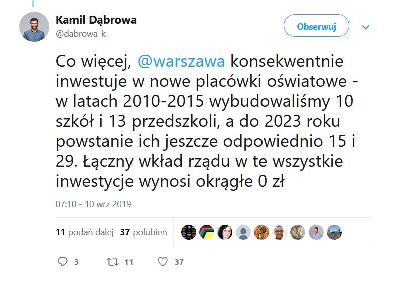 fot. Twitter (Kamil Dąbrowa)